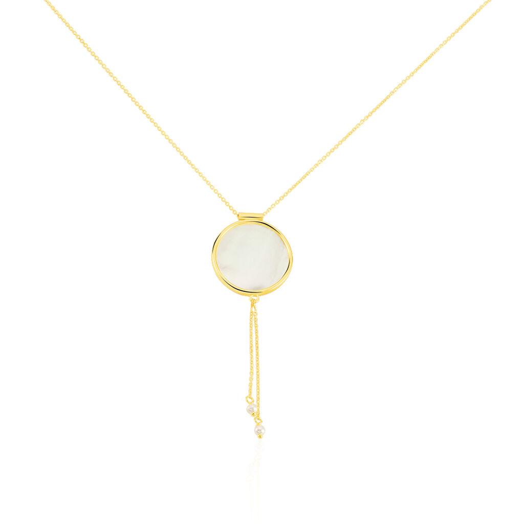 Damen Halskette Gold 375 Perlmutt  - Ketten mit Anhänger Damen | Oro Vivo