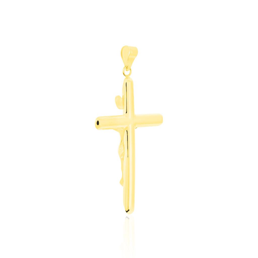 Unisex Anhänger Gold 585 Bicolor Christus Kreuz  - Kreuzanhänger Unisex | Oro Vivo