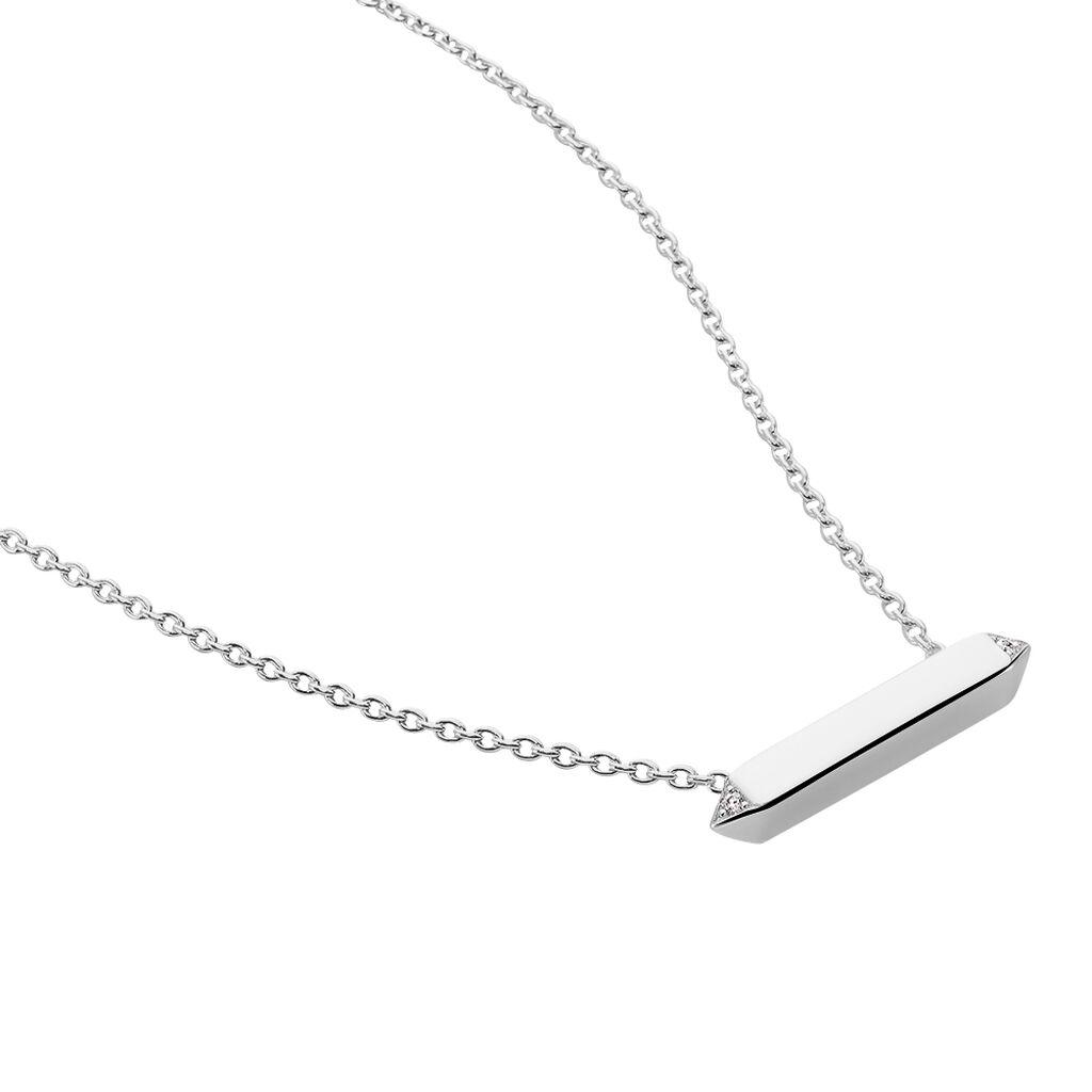 Damen Halskette Silber 925 Diamant 0,012ct - Ketten mit Anhänger Damen | Oro Vivo
