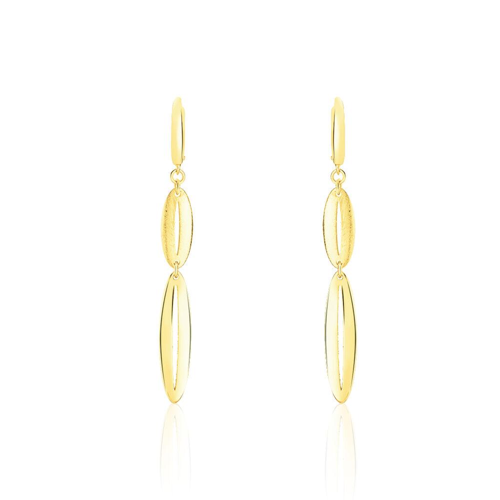 Damen Ohrhänger Lang Gold 585  - Creolen Damen | Oro Vivo
