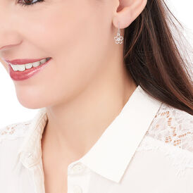 Damen Ohrhänger Lang Silber 925 Rhodiniert Blume -  Damen | Oro Vivo