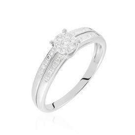 Damenring Weißgold 375 Diamanten 0,06ct - Black Friday Damen | Oro Vivo