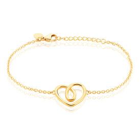 Damenarmband Edelstahl Vergoldet Herz - Armbänder Damen | Oro Vivo