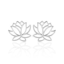 Damen Ohrstecker Silber 925 Rhodiniert Lotus - Ohrstecker Damen | Oro Vivo