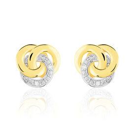 Damen Ohrstecker Gold 375 Diamant 0,02ct  - Ohrstecker Damen   Oro Vivo