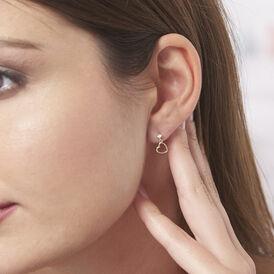 Damen Ohrstecker Gold 375 Herz - Ohrringe Damen   Oro Vivo