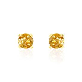 Damen Ohrstecker Gold 375 Citrin 3mm - Schmuck Damen | Oro Vivo