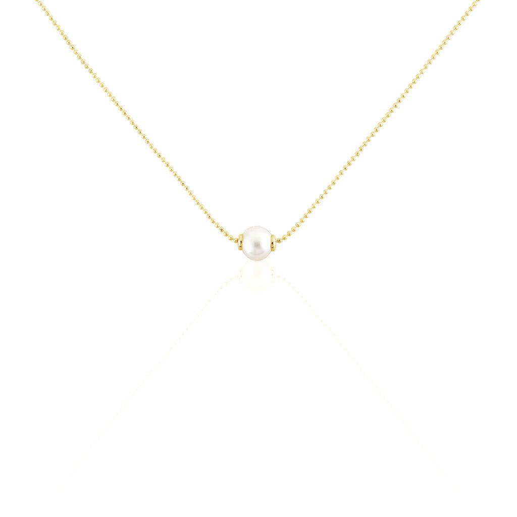 Damen Halskette Silber 925 Vergoldet Zuchtperle - Ketten mit Anhänger Damen | Oro Vivo