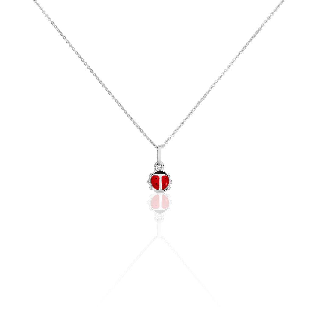 Kinder Halskette Silber 925 Marienkäfer - Ketten mit Anhänger Kinder | Oro Vivo