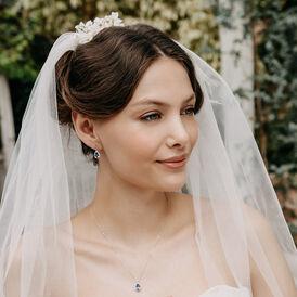 Damen Halskette Weißgold 750 Tansanit Diamanten - Ketten mit Anhänger Damen | Oro Vivo