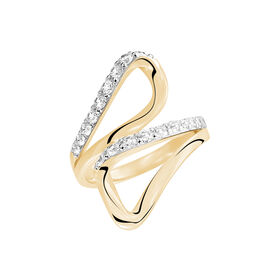 Damenring Silber 925 Gold Vergoldet Zirkonia - Ringe mit Stein Damen   Oro Vivo
