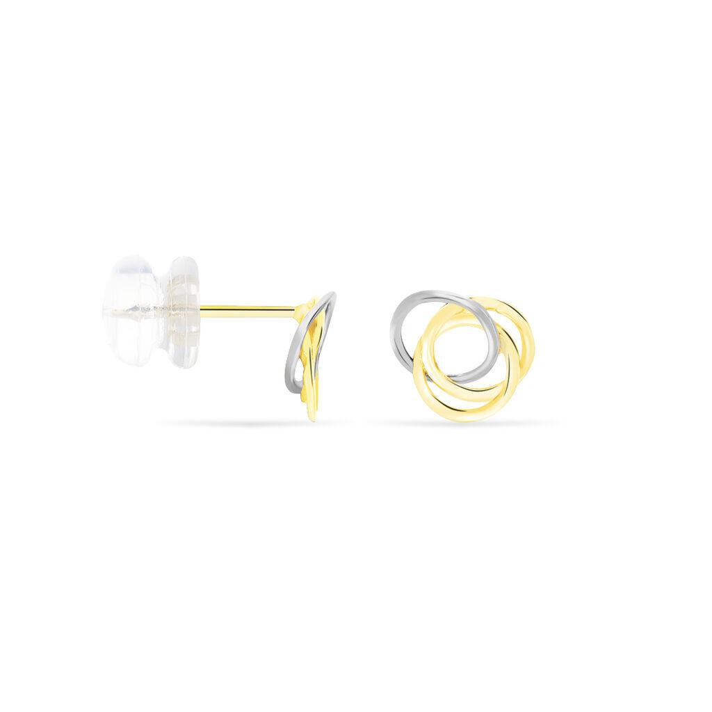 Damen Ohrstecker Gold 375 Bicolor  - Ohrstecker Damen | Oro Vivo