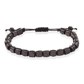 Herrenarmband Edelstahl Kugeln Textil - Armbänder Herren | Oro Vivo