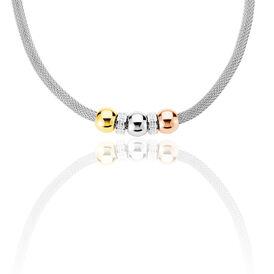 Damen Halskette Edelstahl Tricolor Strass - Black Friday Damen | Oro Vivo