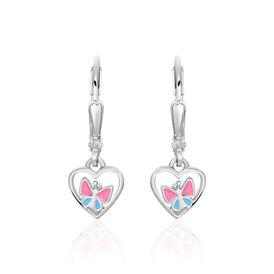 Kinder Ohrhänger Silber 925 Herz  - Ohrhänger Kinder | Oro Vivo