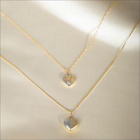 Anhänger Gold 333 Bicolor Herz - Herzanhänger Damen   Oro Vivo