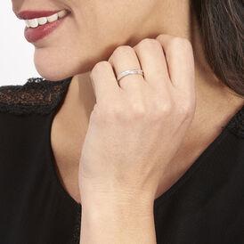 Damenring Weißgold 375 Diamanten 0,009ct  - Eheringe Damen | Oro Vivo