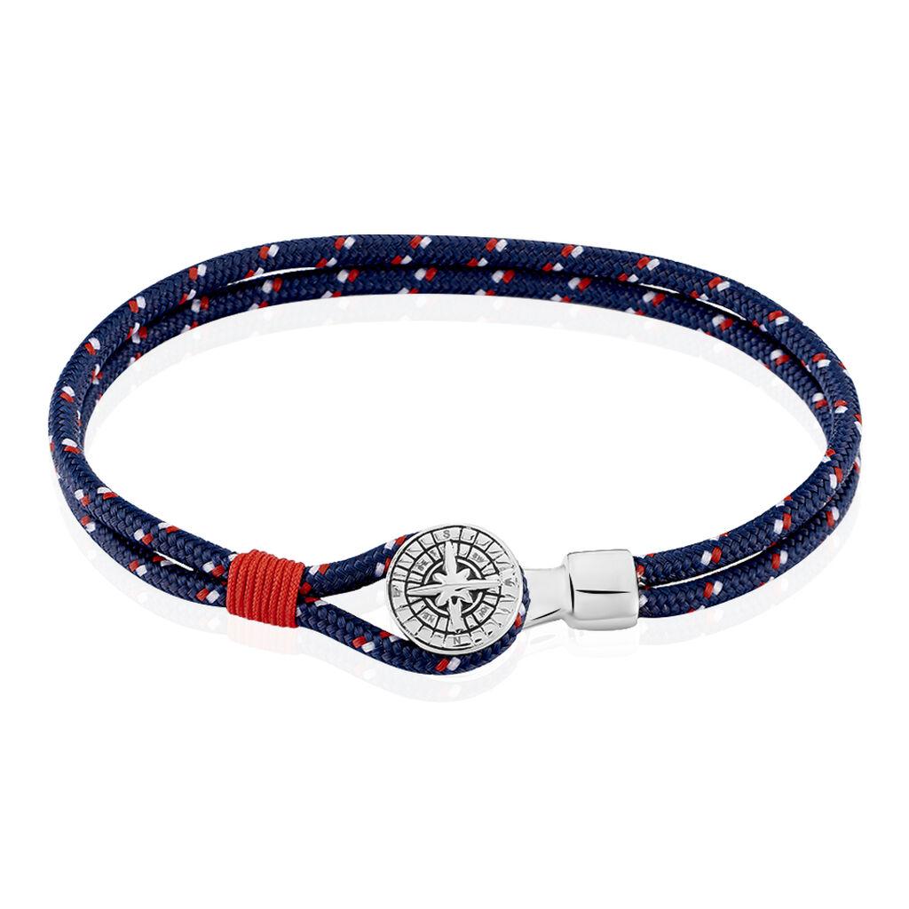 Herrenarmband Edelstahl Kompass Blau  - Armbänder Herren | Oro Vivo