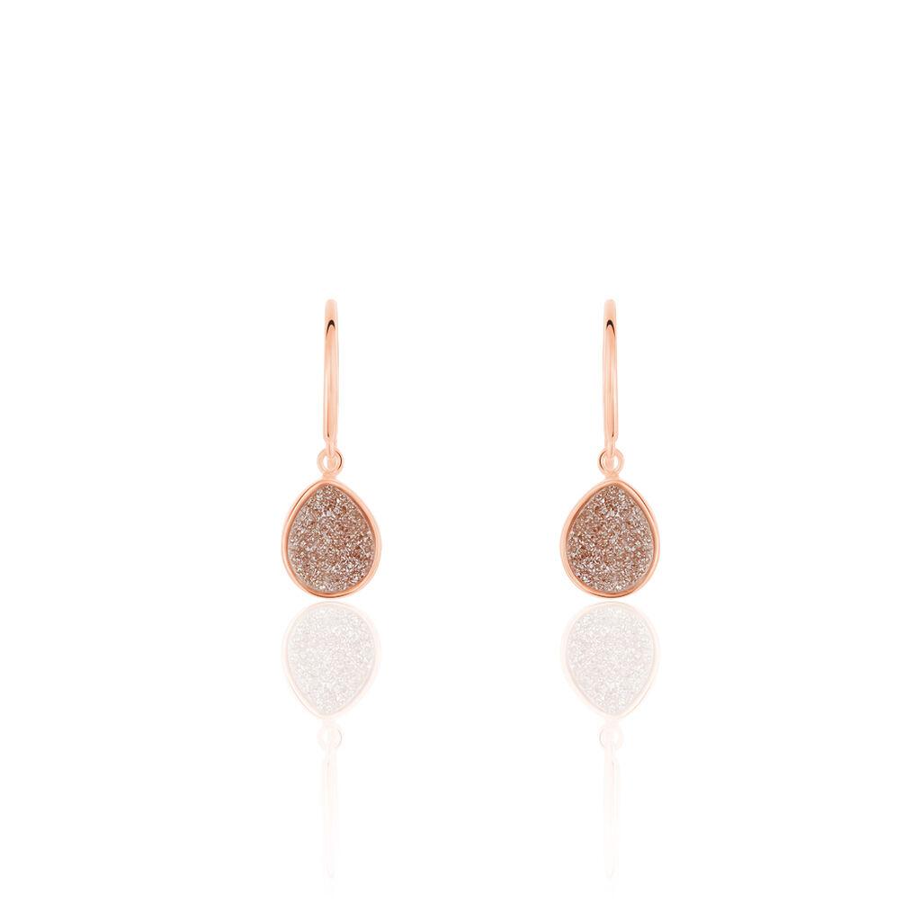 Damen Ohrhänger Silber 925 Rosé Vergoldet Achat - Ohrhänger Damen | Oro Vivo