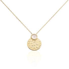 Damen Halskette Messing Gold plattiert Quarz - Ketten mit Anhänger Damen   Oro Vivo