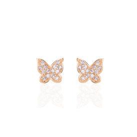 Damenohrstecker Silber 925 Rosé Vergoldet  - Ohrstecker Damen | Oro Vivo