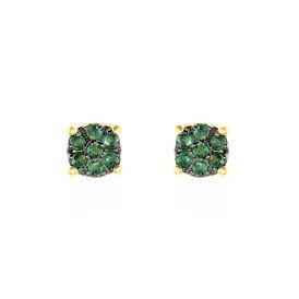 Damen Ohrstecker Gold 375 Smaragd  - Ohrstecker Damen | Oro Vivo