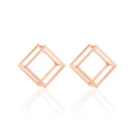 Damen Ohrstecker Silber 925 Rosé Vergoldet  -  Damen | Oro Vivo