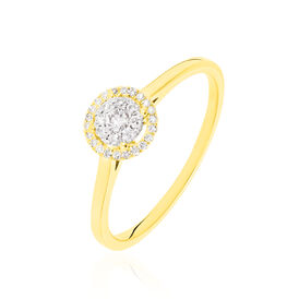 Damenring Gold 375 Diamanten 0,2ct - Ringe mit Edelsteinen Damen | Oro Vivo