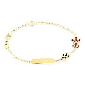 Kinder Id Armband Gold 375 Gravierbar Rennauto - ID-Armbänder Kinder | Oro Vivo