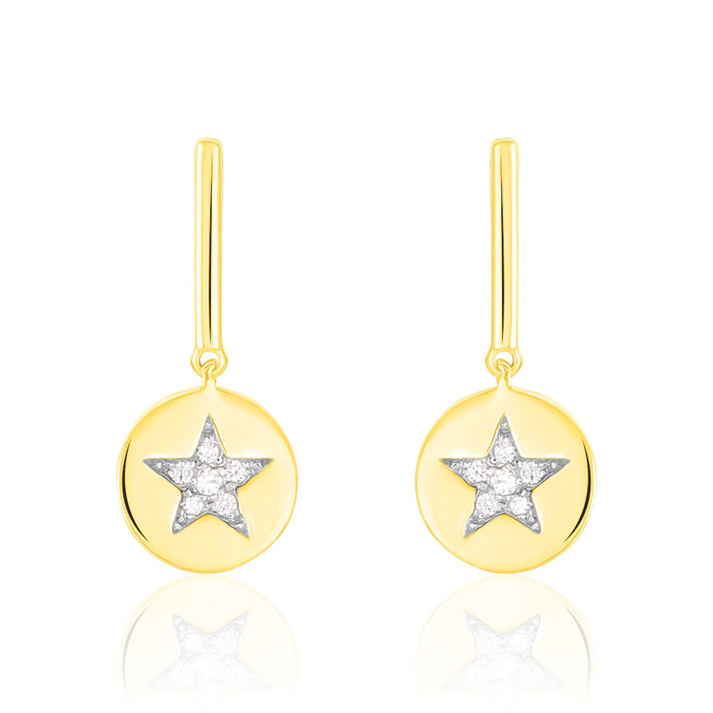 Damen Ohrstecker Gold 375 Zirkonia Stern - Ohrringe Damen | Oro Vivo