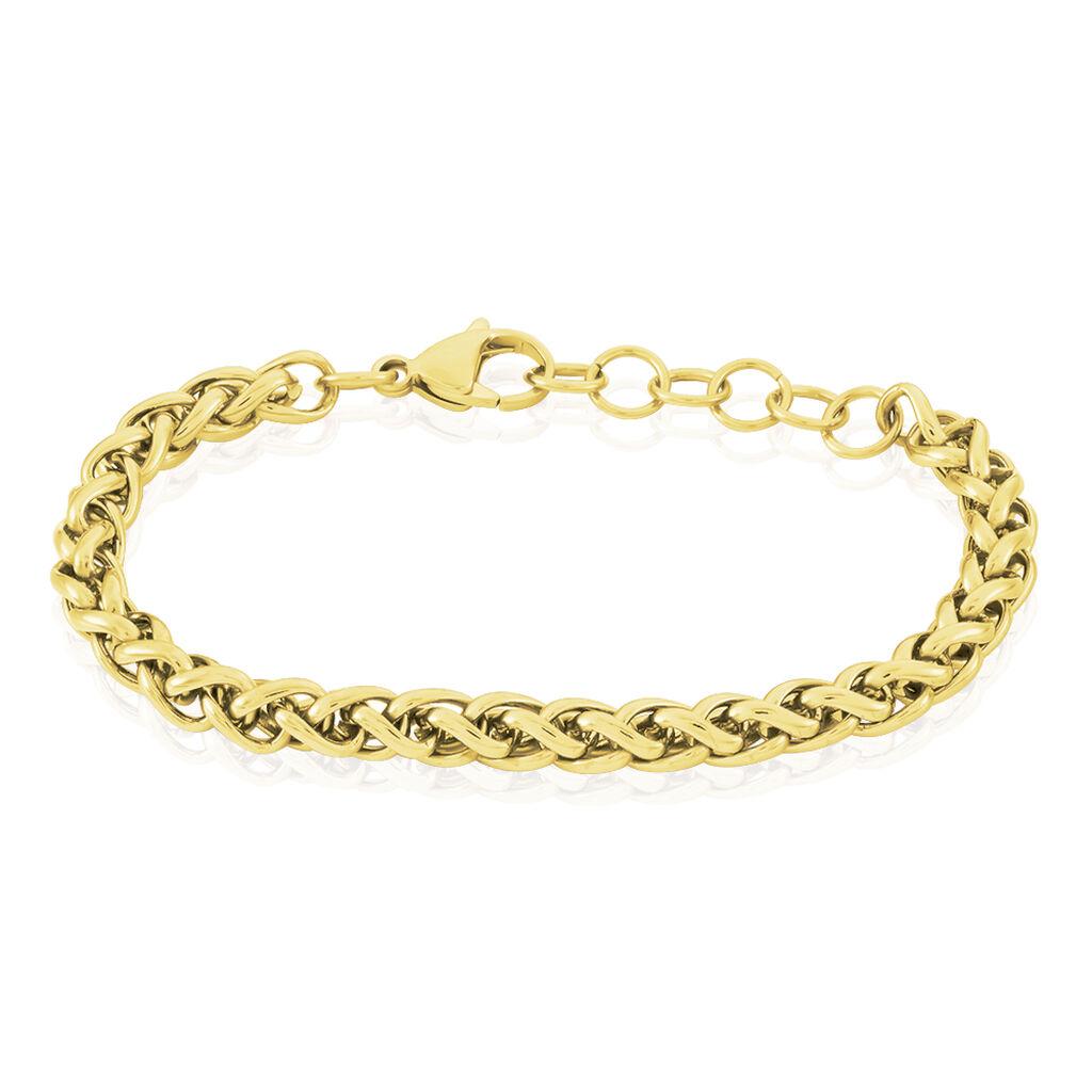 Damenarmband Fuchsschwanzkette Edelstahl Vergoldet - Armketten Damen   Oro Vivo