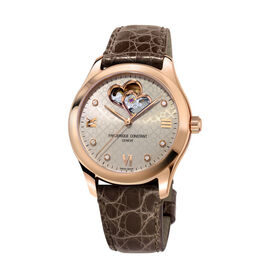 Frederique Constant Damenuhr Double Heart Beat - Black Friday Damen | Oro Vivo
