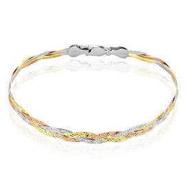 Damenarmband Silber 925 Tricolor  - Armketten Damen | Oro Vivo