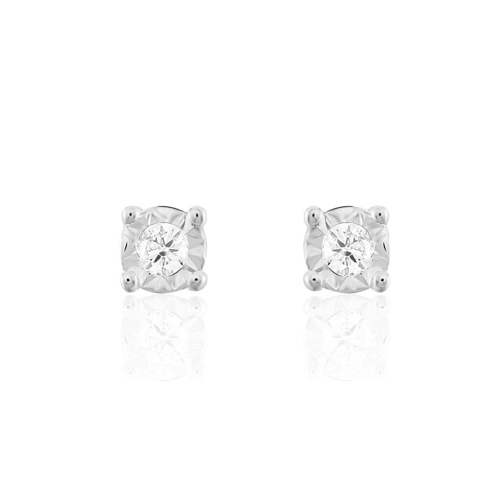 Damen Ohrstecker Weißgold 375 Diamant 0,03ct  - Ohrstecker Damen | Oro Vivo