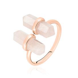 Damenring Silber 925 Rosé Vergoldet Quarz - Ringe mit Stein Damen | Oro Vivo