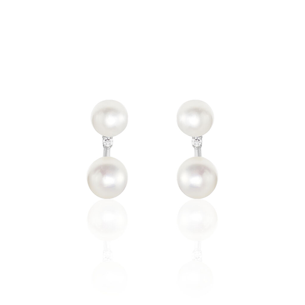 Damen Perlenohrringe Silber 925 Zuchtperlen - Ohrstecker Damen | Oro Vivo