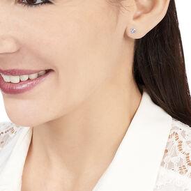 Damen Ohrstecker Gold 375 Blauer Topas 4mm - Ohrstecker Damen | Oro Vivo