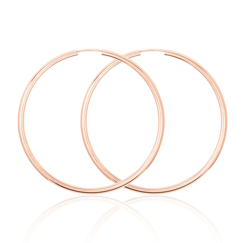 Damen Creolen Silber 925 Rosé Vergoldet 50mm - Creolen Damen | Oro Vivo