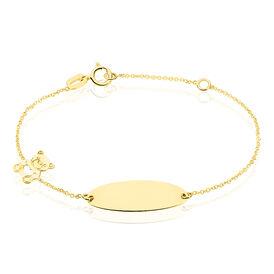 Kinder Id Armband Gold 375 Bär - ID-Armbänder Kinder | Oro Vivo
