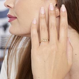 Damenring Vergoldet Zirkonia Herz - Ringe mit Stein Damen | Oro Vivo