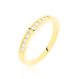 Damenring Gold 585 Diamanten 0,25ct - Eheringe Damen | Oro Vivo