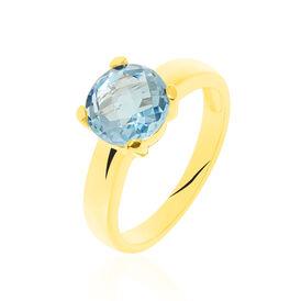 Damenring Gold 375 Blauer Topas - Ringe mit Stein Damen   Oro Vivo