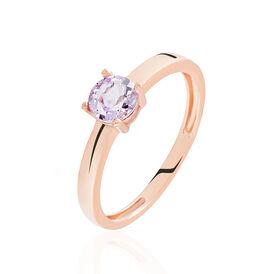 Damenring Roségold 375 Amethyst - Ringe mit Stein Damen | Oro Vivo