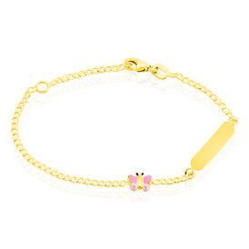 Kinder Id Armband Gold 375 Schmetterling - ID-Armbänder Kinder | Oro Vivo