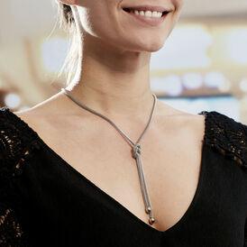 Damen Halskette Edelstahl Kristall  - Ketten mit Anhänger Damen | Oro Vivo