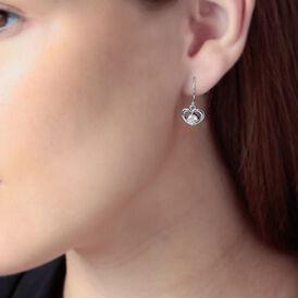Damen Ohrhänger Silber 925 Zirkonia Herz - Ohrhänger Damen | Oro Vivo