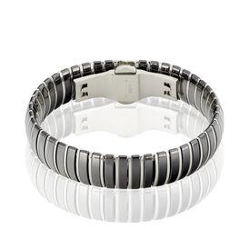 Damenarmkette Edelstahl Schwarze Keramik  - Armbänder Damen | Oro Vivo