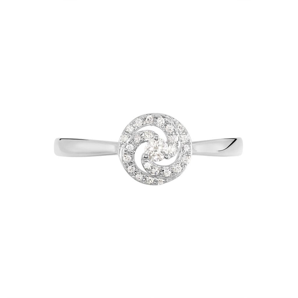 Damenring Weißgold 375 Diamanten 0,037ct - Ringe mit Edelsteinen Damen | Oro Vivo