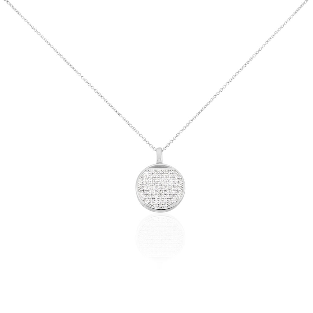 Damen Halskette Silber 925 Rhodiniert Zirkonia - Ketten mit Anhänger Damen   Oro Vivo