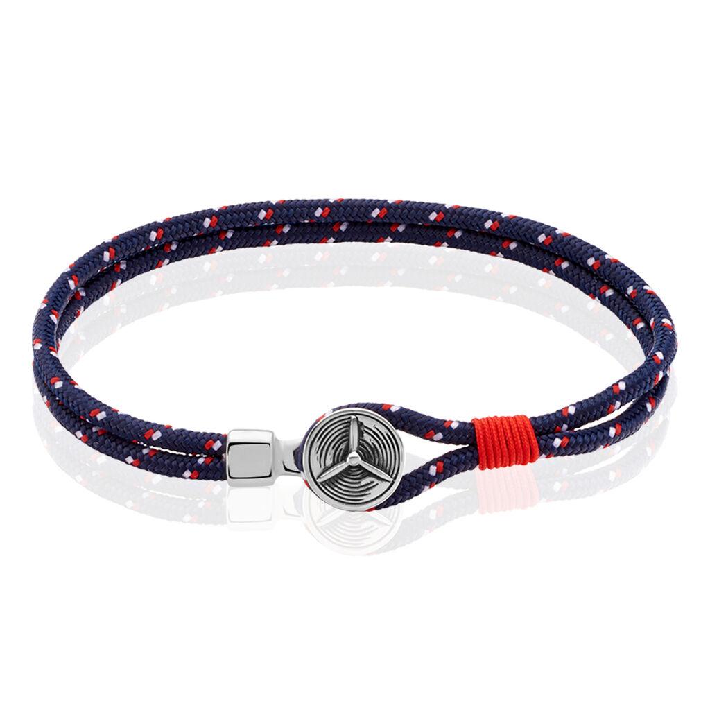 Herrenarmband Seilband Dunkelblau Propeller - Armbänder Herren | Oro Vivo
